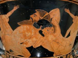 Herakles contre Antaios - Louvre